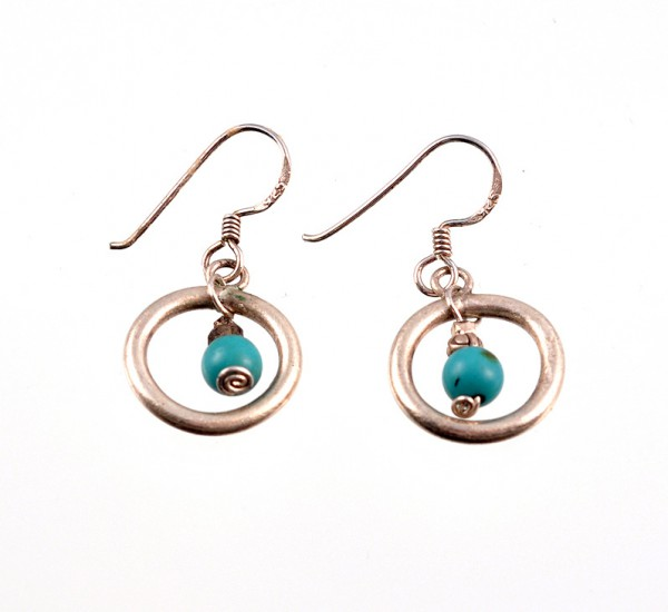 Ohrringe aus Silber und Türkis