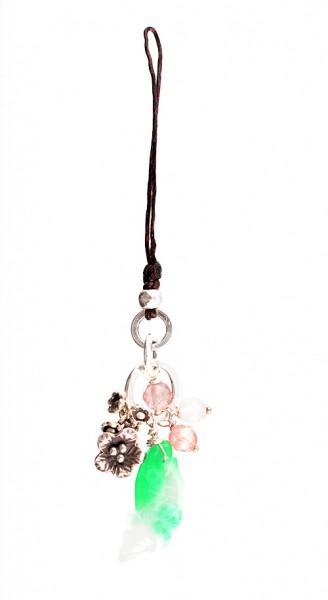 Taschenanhänger, Motiv: Fisch, Blumen
