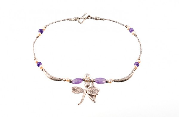 Silberfußkettchen, Motiv: Libelle
