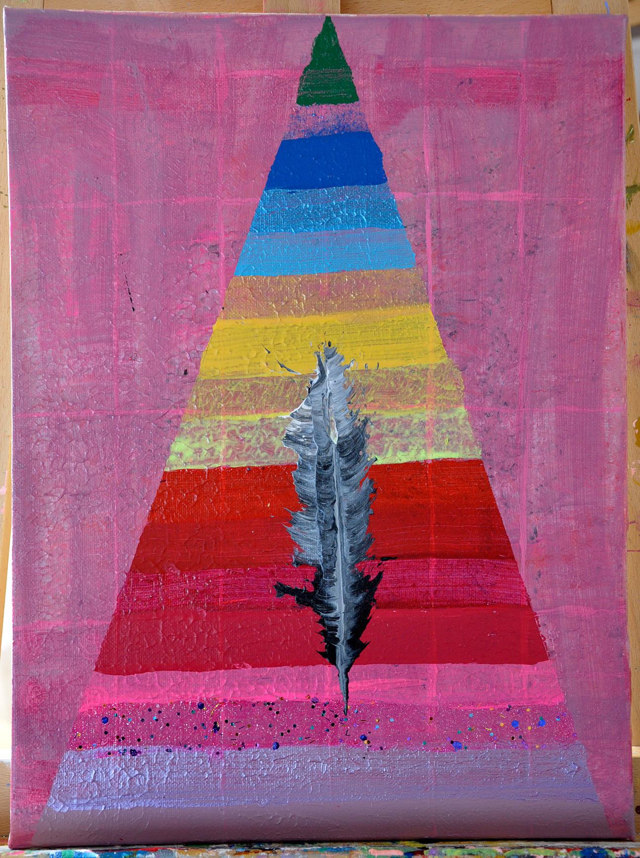 Pyramide der Feder
