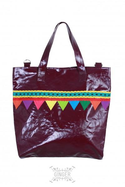 Shopping bag, Grösse: M / Lila